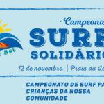 Surf Solidário na praia da Leste